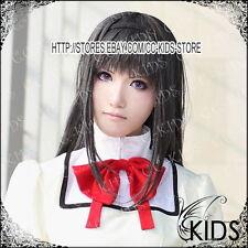 Puella Magi Madoka Magica Akemi Homura cosplay wig 100CM