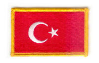 TURKEY TURKISH FLAG PATCHES COUNTRY PATCH BADGE IRON ON NEW EMBROIDERED