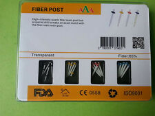 1 Box AAA Dental Promotion Fiber Resin Post & 4 Drills Straight Pile Glass