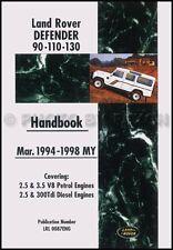 Land Rover Defender Owners Manual 1994 1995 1996 1997 1998 Handbook 90 110 130