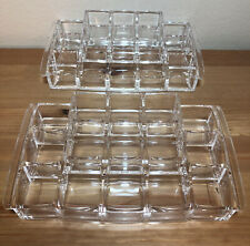 2 Caboodles Tray Jewelry Makeup Organizer Large Clear Transparent 8x4 Inches