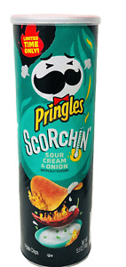 Pringles Scorchin Sour Cream & Onion Potato Crisps 5.5 oz