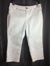 Coldwater Creek Women's White Denim Jeans Plus Size 16