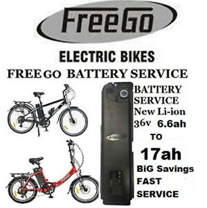 Freego Electric Bike Battery Service From 6.6ah to 17ah Fast Track Service