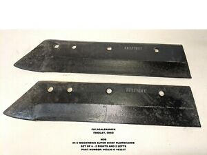 NOS 1 LOT OF 4 PIECES IH SUPER CHIEF (SC) PLOW SHARES PART #'S: 463236 & 463237
