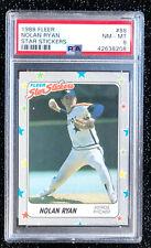 1988 Fleer Nolan Ryan #88 Star Stickers Baseball Card Houston Astros PSA 8 NM-MT