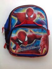 """Backpack 11"""" + Detachable Lunch Snack Bag Amazing Spiderman 2 NWT"""