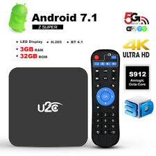 U2C Z SUPER Smart TV Box 3GB 32GB Android 7.1Amlogic Octa Core 4K UHD Dual Wifi