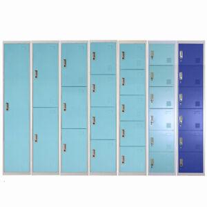 Work Locker 1,2,3,4,5,6Door Metal Lockable School Office Gym Staff Changing Room
