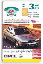 ASIE  TELECARTE / PHONECARD .. JORDANIE 3JD ALO AUTO CAR OPEL 05/98 CHIP/PUCE