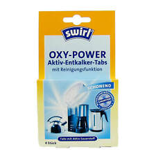 4 Unidades Swirl Power Descalcificador Tabs con, Tocar y Oxígeno Activo