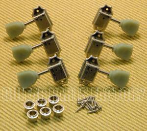 WJ-44-3N Wilkinson 3x3 Nickel Vintage Tuners for Les Paul SG Gibson/Epiphone