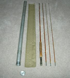 WRIGHT & McGILL GS8642 GRANGER SPECIAL 8 1/2' BAMBOO FLY ROD 3/2 CONF - EX COND