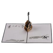 3D RETRO Guitar Pop Up Greeting Card Birthday Wedding Baby Shower Valentine GT