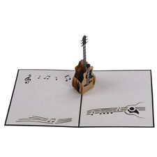 3D Retro Guitar Up Greeting Card Birthday Wedding Baby Shower ValentineFu