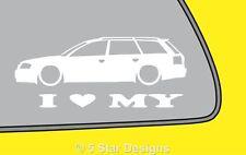 2x LOVE LOW Audi A6 RS6 C5 Avant estate wagon outline sticker decal LR337