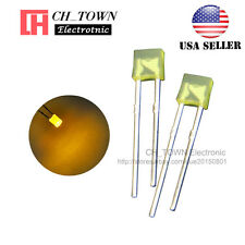 100pcs 2x3x4mm Diffused Yellow Light Rectangle Rectangular Square LED Diodes USA