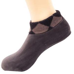 Women Men Winter Warm Leopard Bed Non Slip Home Indoor Slippers Floor Socks