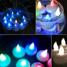 AU Floating Waterproof Battery LED Tea Light Candles Amber Or Colour Changing