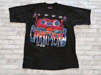 VTG Magic Johnson T's 1995 NBA Orlando Magic Champions Single Stitch Tee Black L