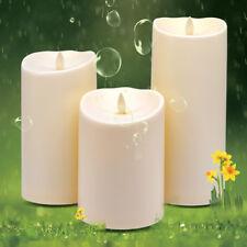 Luminara Flameless Waterproof Moving Wick Garden Led Xmas Candles Timer Remote
