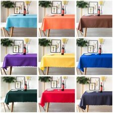 Plain Polyester Table Cloth Banquet Wedding Hotel Table Cover Cloth Rectangular
