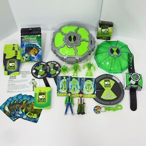 Bandai Ben 10 Lot Alien Force Creation Challenge Chamber Game Figures Cards Toy