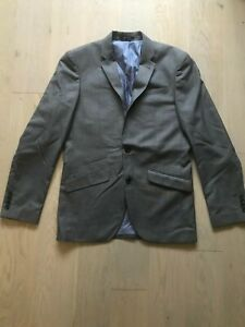 Cedar Wood State Size 36R Slim Fit Grey Button Notch Lapel Pocket Suit Jacket