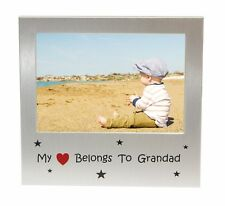 """My Heart Belongs to Grandad Photo Picture Frame Gift - 5"""" x 3.5"""""""