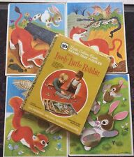 Little Golden Book Large Frame Tray Puzzle Box Set of 4, Lively Little Rabbit