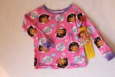 NEW Toddler Girls Cotton Pajamas Top Size 2T Pink Dora the Explorer Shirt PJs