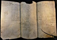 KING LOUIS XV SIGNED LETTER ON LARGE PARCHMENT - 1722 König von Frankreich