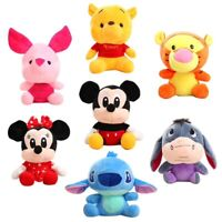 DISNEY PELUCHES MICKEY MINNIE PORCINET WINNIE TIGROU BOURRIQUET 17 À 23 CM