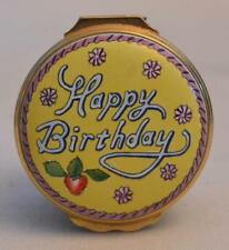 Halcyon Days English Enamels Happy Birthday 1992 Cake Tiffany and Co Trinket Box