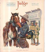 1918 Judge November 9 - Cowboys says goodbye to his horse; Marine Soliloquy