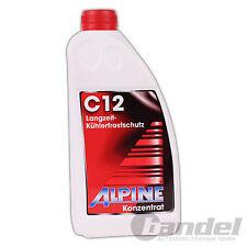 [4,33€/L] ALPINE KÜHLERFROSTSCHUTZ C12 KONZENTRAT ROT 1,5L / Antifreeze G12