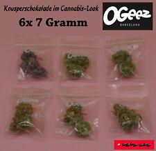 6x 7g - OGEEZ! Knusperschokolade im Cannabis-Look / Alle Sorten im Probierpack
