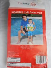 "Inflatable Kids Swim Vest // Size (Deflated): 17"" x 12"" //"