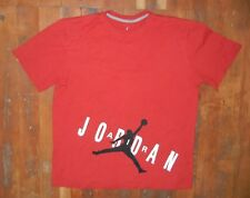 JUMPMAN Michael Jordan Brand Red Cotton BASKETBALL T-SHIRT Sz Men's MEDIUM Gym