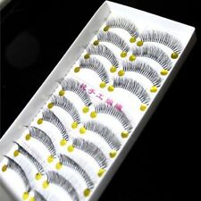 10Pairs/Box Natural Thick Long False Eyelashes Fake Eye Lashes Voluminous Makeup