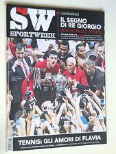 SPORT WEEK  n.17  2015 // Flavia Pennetta, Giorgio Armani, Diego Perotti, Tennis