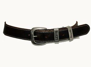 Vintage Levi's Original Dark Brown Genuine Leather Women's Waist Belt 68cm-79cm