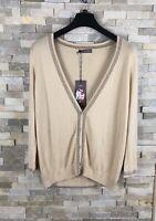M&S Portfolio Ladies Size 16 UK Natural Gold Sparkling Cardigan BNWT RRP £25