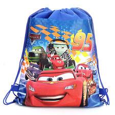 Cool Disney Cars McQueen Cartoon Bag Drawstring Backpack Drawstring School Bag