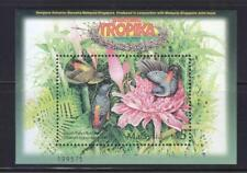 MALAYSIA 2002 TROPICAL BIRDS SINGAPORE JOINT ISSUE SHEET OF 1 STAMP IN MINT MNH