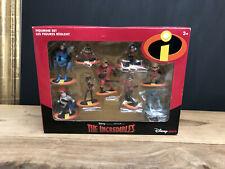 Disney Store Pixar Incredibles Action Figure Set 9Pc New In Box