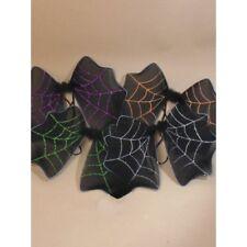HALLOWEEN BAT WINGS BLACK WINGS WITH GLITTER VAMPIRE FANCY DRESS COSTUME