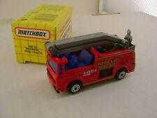 1993 MATCHBOX SUPERFAST MB 63 SNORKEL FIRE TRUCK RESCUE SQUAD 12th NEW IN BOX