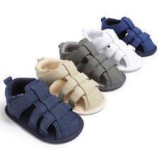 Newborn Baby Boys Kids Shoes Summer Classic First Walkers Anti-Slip Sandals