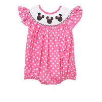New smocked Minnie mouse bubble romper  6m - 3 * birthday girl pink